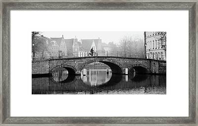 Framed Print featuring the photograph Misty Morning In Bruges  by Barry O Carroll