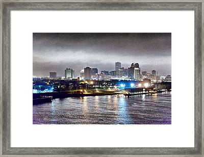 Misty Morning In New Orleans Framed Print by Dan Dooley