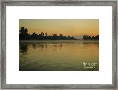 Misty Morning Lake Framed Print