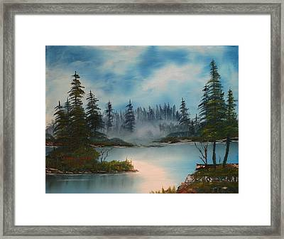 Misty Morning Framed Print by Larry Hamilton