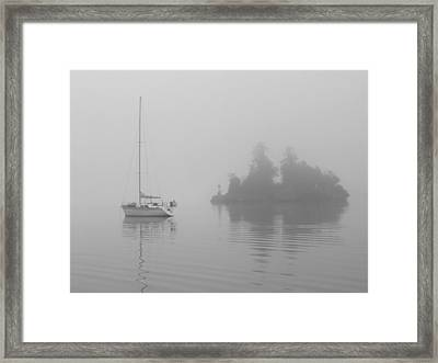 Misty Morning Framed Print by Mark Alan Perry