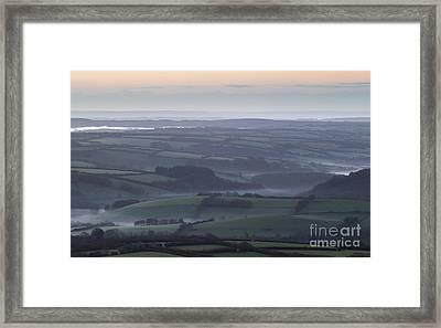 Misty Morning On Exmoor  Framed Print