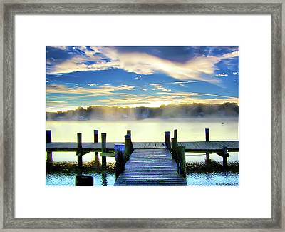 Framed Print featuring the photograph Misty Morning On Rock Creek by Brian Wallace