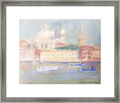 Misty Morning On The Canale Grande Framed Print by Barbara Anna Knauf
