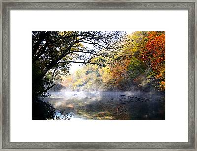 Misty Morning On The Current Framed Print by Marty Koch