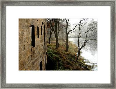 Misty Morning On The Illinois Michigan Canal  Framed Print
