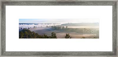 Misty Morning On The Murray Framed Print