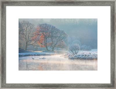 Misty Morning On The River Brathay Framed Print