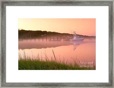 Misty Morning Osterville Cape Cod Framed Print by Matt Suess