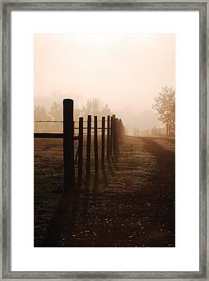 Misty Morning Framed Print by Robert Meanor