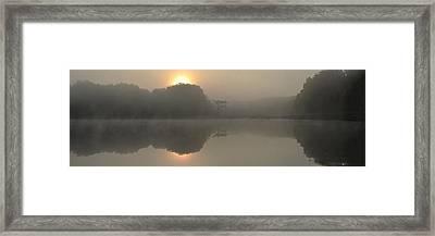 Misty Morning Water Framed Print