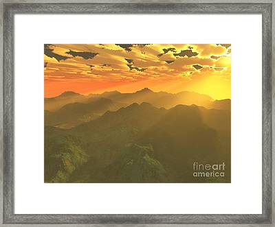 Misty Mornings In Neverland Framed Print by Gaspar Avila