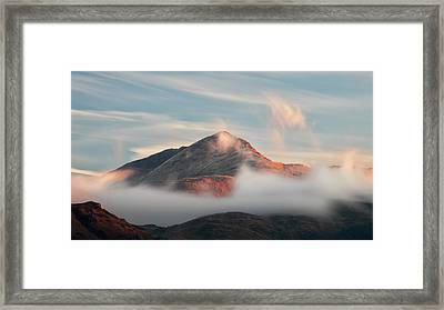 Framed Print featuring the photograph Misty Mountain by Grant Glendinning