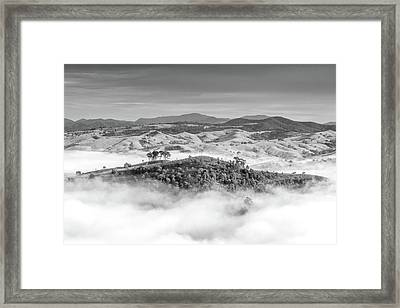 Misty Mountain Hop Framed Print by Az Jackson