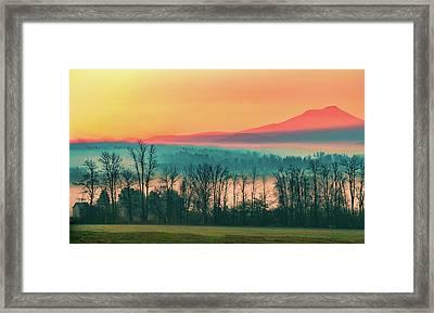 Misty Mountain Sunrise Part 2 Framed Print by Alan Brown