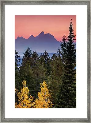 Framed Print featuring the photograph Misty Mountain Sunset by Andrew Soundarajan