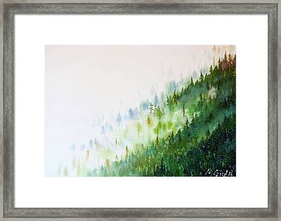 Misty Mountains Framed Print by Max Good