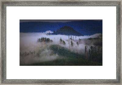 Framed Print featuring the photograph Misty Mountains by Tim Nichols