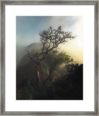 Misty Na Pali Framed Print