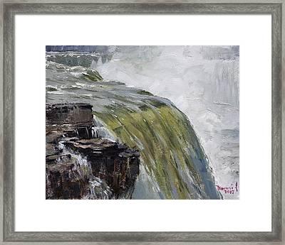 Misty Niagara Falls Ny Framed Print