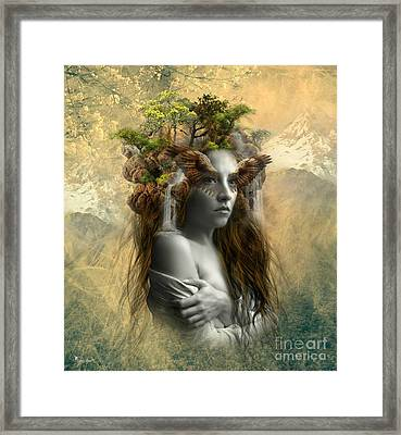 Misty Of The Mountains Framed Print