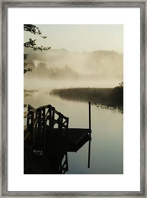Misty Oregon Morning Framed Print