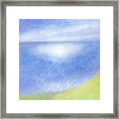 Misty Pali Lookout Framed Print by Angela Treat Lyon