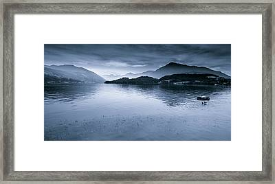 Misty Peaks In The Distance Framed Print