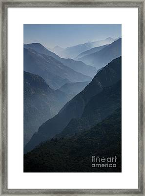 Misty Peaks Framed Print by Timothy Johnson