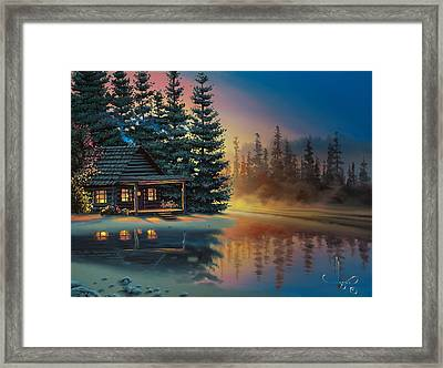 Misty Refection Framed Print