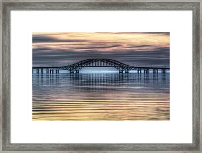 Misty Reflective Sunrise Framed Print by Vicki Jauron