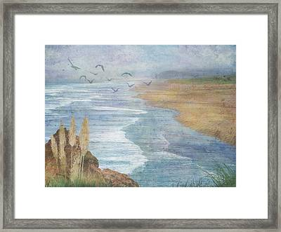 Misty Retreat Framed Print