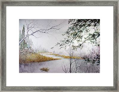Misty  River Morning Framed Print