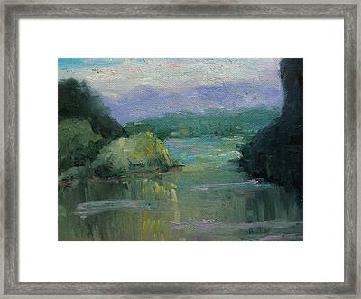 Misty River Framed Print