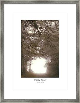 Framed Print featuring the digital art Misty Road by Julian Perry