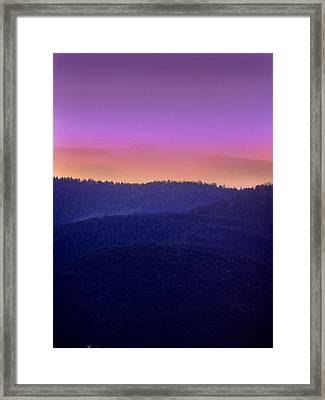 Framed Print featuring the photograph Misty Rockies Sunrise by Rod Seel