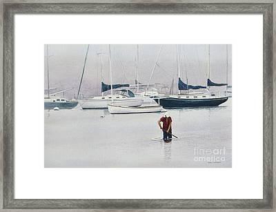 Misty Scalloper Framed Print by Karol Wyckoff