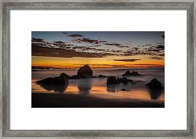 Misty Seascape Framed Print