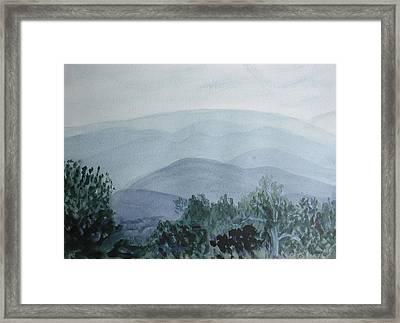 Misty Shenandoah Framed Print