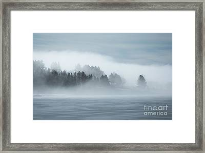 Misty Shores Framed Print by Idaho Scenic Images Linda Lantzy