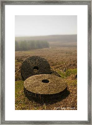 Misty Stone Framed Print by David J Knight