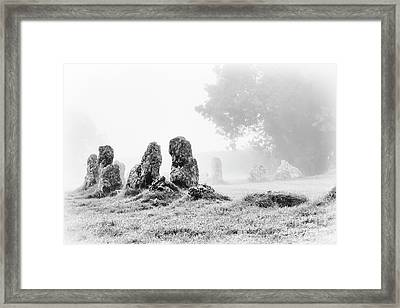 Misty Stones Framed Print