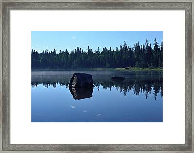 Misty Summer Morning Framed Print