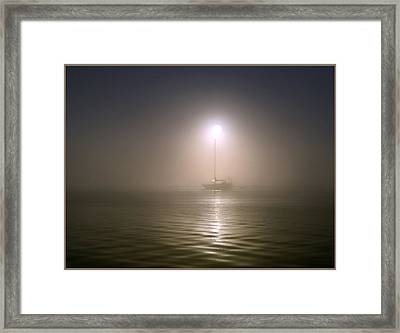 Misty Sun Framed Print