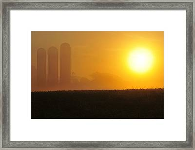 Framed Print featuring the photograph Misty Sunrise by Dan Myers