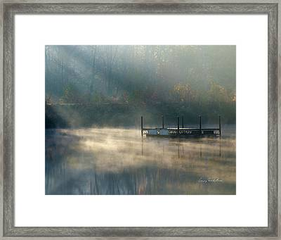 Misty Sunrise Framed Print by George Randy Bass