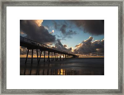 Misty Sunset Framed Print