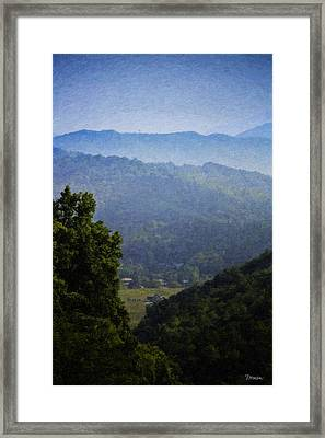 Misty Virginia Morning Framed Print by Teresa Mucha