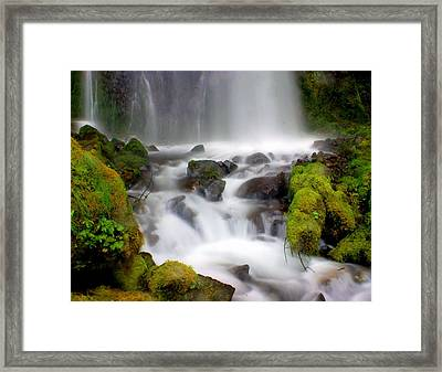 Misty Waters Framed Print by Marty Koch