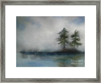 Misty Waters Framed Print by Vivian  Mosley